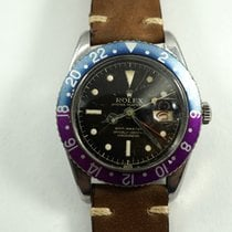 """Rolex GMT 6542 """"Pussy Galore"""" stainless steel dates 1957"""