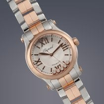Chopard Happy Sport Mini stainless steel and Rose gold quartz...