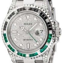 Rolex GMT-Master II Steel Black/Green Custom Bezel Pavé Dial