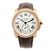 Cartier Calibre De Cartier 18k Rose Gold Silvery White...