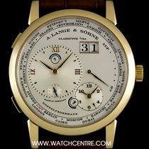 A. Lange & Söhne 18k Y/G Silver Dial Lange 1 Time Zone...