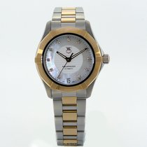 TAG Heuer Ladies Aquaracer Steel & Rose Gold Automatic...