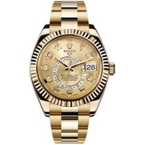 Rolex Sky-Dweller Yellow Gold Champagne Dial 42mm