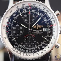 Breitling Navitimer Heritage Black Indexes 42mm Steel on Leather
