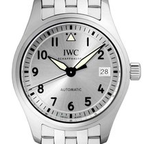 IWC Pilot 36 Silver Plated Dial Steel Bracelet Swiss Automatic...