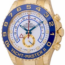 Rolex : Yacht-Master II :  116688 :  18k Gold : white dial : NEW