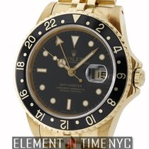 Rolex GMT-Master 18k Yellow Gold Black Dial Circa 1984 With...