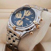 Breitling Chronomat Gold Steel Pilotband Blue Dial 39 mm (1998)