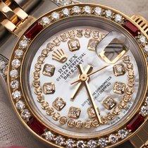 Rolex Ladies Rolex Steel-gold 26mm Datejust Watch White Mop...