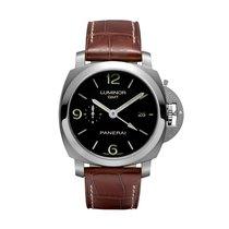 Panerai Luminor 1950 3 Days GMT Automatic Acciaio  Mens Watch...
