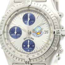 Breitling Polished Breitling Chronomat Blue Impulse Steel...