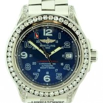 Breitling Superocean Men's Blue Dial Stainless Steel Bracelet