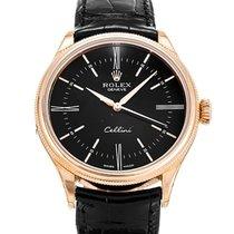 Rolex Cellini Rose Gold Black Dial - 50505