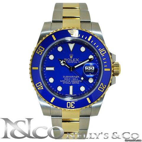 Rolex Submariner Men's Blue Two-tone