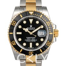 Rolex Submariner Black Dial Gold/Steel Ceramic Bezel - 116613 LN