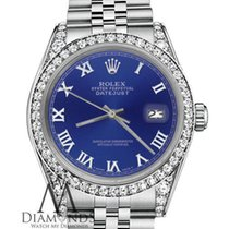 Rolex 26mm Datejust Blue Silver Roman Numeral 18k White Gold...