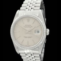 Rolex Datejust Ref.: 16220 - Tapesserieblatt - Full Set -...