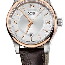 Oris Classic Date Farbe Weiß Gold
