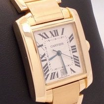 Cartier Tank Francaise W50001r2 Large Automatic 18k Yellow...