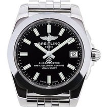 Breitling Galactic 36 Trophy Black Dial Quartz Steel Watch...