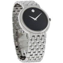 Movado Certa Series Mens Black Museum Dial Swiss Quartz Watch...
