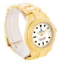 롤렉스 (Rolex) Yachtmaster Midsize 18k Yellow Gold White Dial...