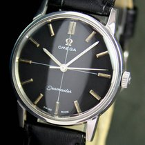 Omega Seamaster Winding Black Dial Steel Vintage Unisex Watch