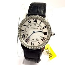 Cartier Ronde Solo Steel Men's Watch W Diamond Bezel &...