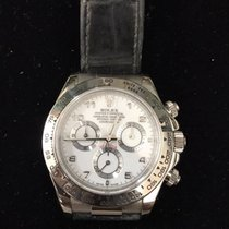 勞力士 (Rolex) White Gold Daytona w/ Leather Strap and Arabic...