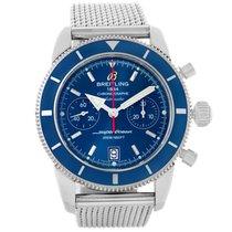 Breitling Superocean Heritage 44 Blue Dial Mesh Bracelet Watch...