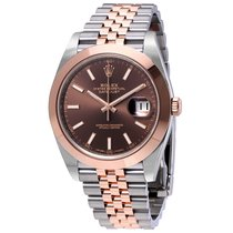 Rolex Datejust 41 Chocolate Brown Dial Steel and 18K Rose Gold...