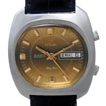 TITONI RING STAR ALARM DAY DATE AUTOMATIC