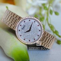 Piaget Traditional Mechanical Diamond Dial Gold Bracelet Lad