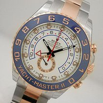 Rolex Yachtmaster Ii 116681 Mens Ss/18k Pink Gold 44mm Blue...