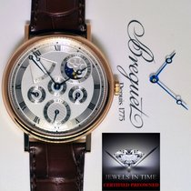 Breguet Perpetual Calendar 18k Rose Gold Mens Watch Box/Papers...