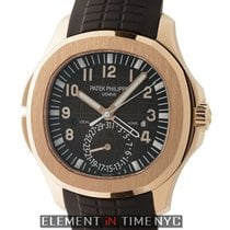 Patek Philippe Aquanaut Travel Time 18k Rose Gold Brown Dial 41mm