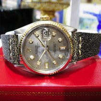 Rolex Oyster Perpetual Datejust Tuxedo Diamond Dial Watch