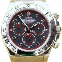 Rolex Cosmograph Daytona 116509 Full 18k White Gold Black...