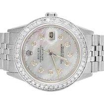 Rolex Datejust Quickset 16014 Oyster 36MM White MOP Dial...