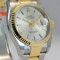 Rolex DateJust Two Tone 18kt Yellow Gold/SS Silver Dial-116233