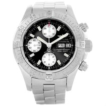 Breitling Aeromarine Superocean Black Dial Mens Watch A13340...