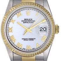 ロレックス (Rolex) Men's Rolex Datejust Watch 16233 White Roman...