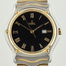 Ebel Classic Wave, Mens, Stainless Steel and 18k Yellow Gold,...