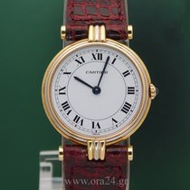 Cartier Vendome Trinity Lady 18k Full Gold White Roman Dial
