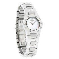 Tissot T-Round Mini Diamond Ladies MOP Swiss Quartz Watch...