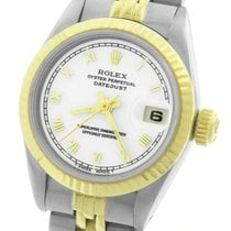 Rolex DateJust 26mm 69173 Two-Tone Stainless White Roman Jubilee