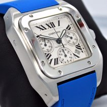 Cartier Santos 100 Xl 2740 41mm Chronograph Automatic Blue...