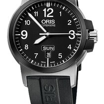 Oris BC3 Advanced, Day Date, Black Dial, Rubber