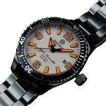 Deep Blue Alpha Marine 500 42mm Auto Diver Watch 500m Wr White...