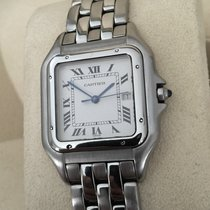Cartier Panthere Date Steel White Roman Dial (29 x 39 mm)